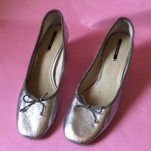 Silver Zara leather shoes